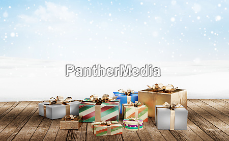 christmas presents 3d illustration festive christmas