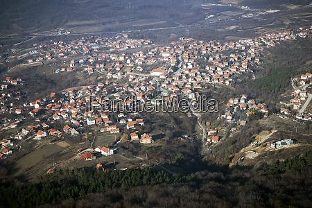 belgrade cityscape aerial view
