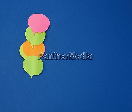 multicolored empty paper stickers in the