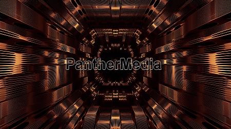 atmospheric wire frame design tunnel corridor