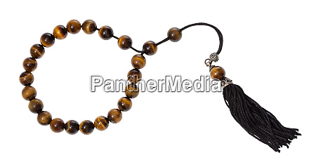 worry beads from tigers eye gemstones