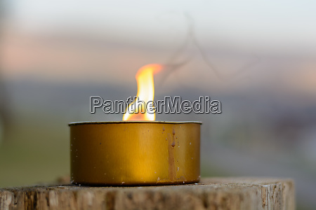 large candlelight idyllic