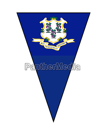 connecticut state flag as bunting triangle