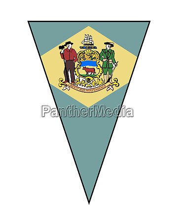 delawarestate flag as bunting triangle