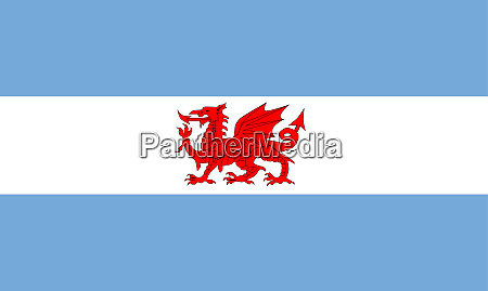 welsh dragon flag of patagonia colony
