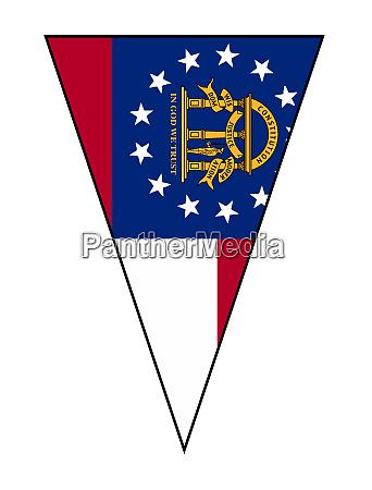 georgia state flag as bunting triangle