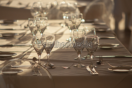 table set with glasses 2