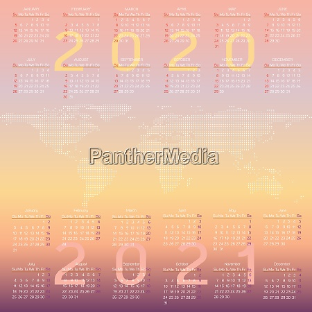 year planner calendar of 2020 and