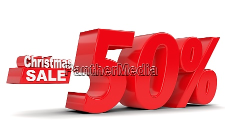 christmas sale discount 50 percent off
