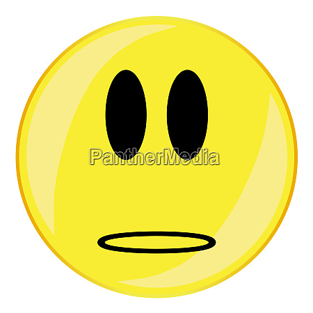 wonder smiley face button isolated