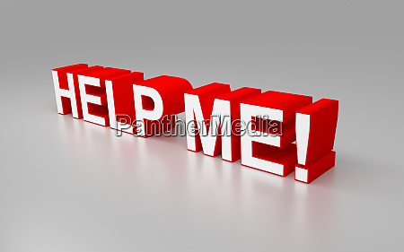 rendered 3d text help me with