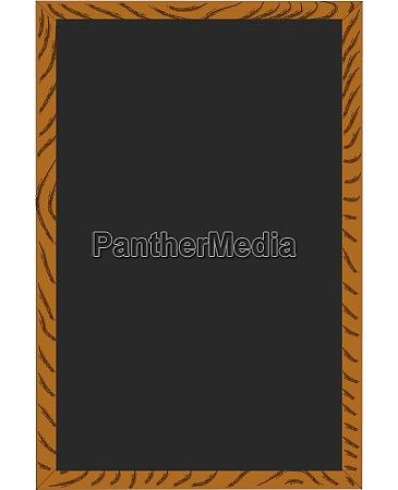 blank menu chalkboard