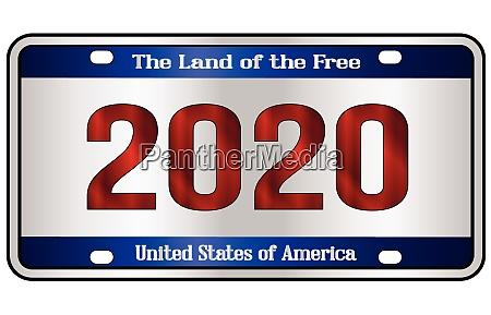 2020 patriotic number plate