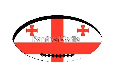 georgia flag rugby ball