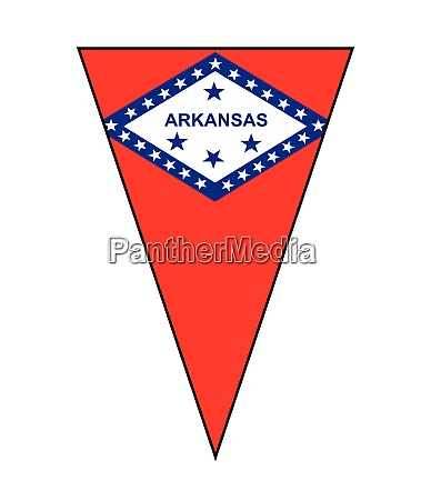 arkansas state flag as bunting triangle