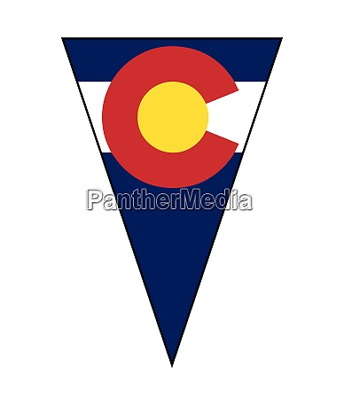 colorado state flag as bunting triangle