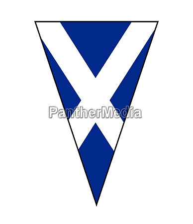 scottish flag as bunting triangle