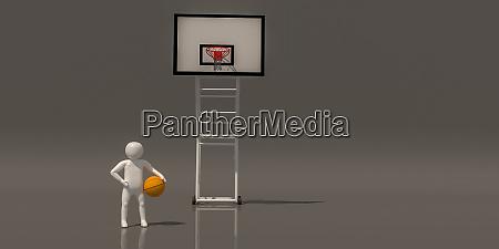 3d illustrator group of sports symbols