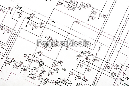 detailed technical drawing with a lot