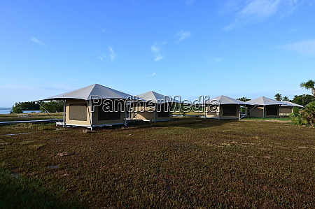 fixed tents in flamingo in everglades