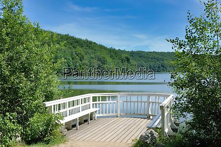 lake ukleisee near eutin in holstein