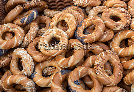 traditional cracovian prezels with salt