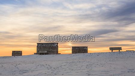 sunset at the war memorial grappa