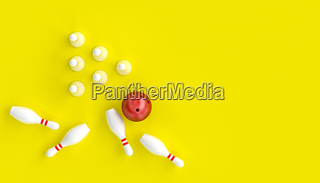 3d render image with bowling ball