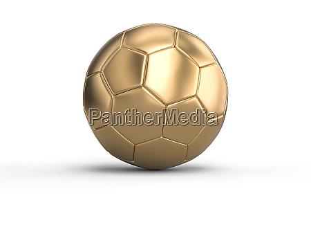 handball gold ball on a white