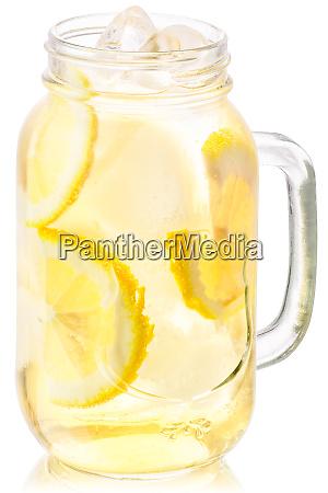 iced lemonade in mason jar paths