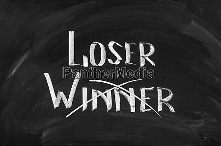 loser and winner written on the