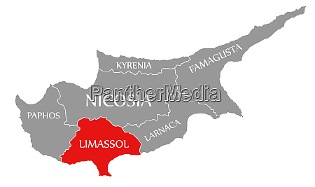 limassol red highlighted in map of