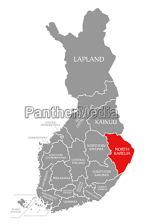 north karelia red highlighted in map