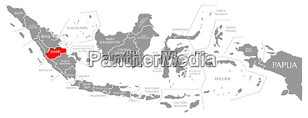 jambi red highlighted in map of