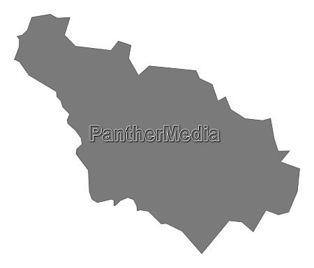 gjakove kosovo district map grey illustration