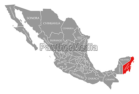 quintana roo red highlighted in map