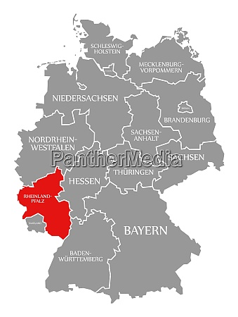 rhineland palatinate red highlighted in map