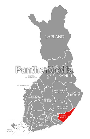 south karelia red highlighted in map