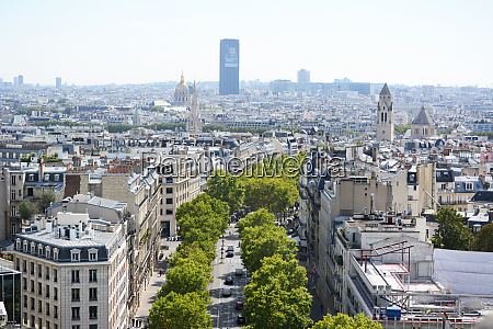 cityscape of paris from the top