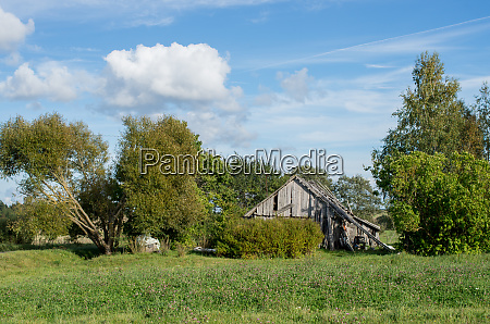 old abandoned homestead standing by the