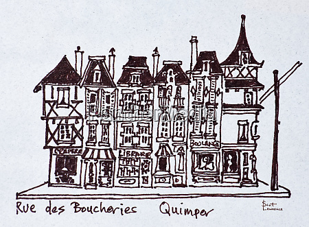 traditional storefronts along rue des boucheries