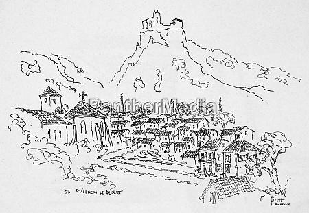 medieval village of saint guilhem le
