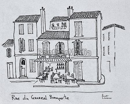 cafe bonaparte on rue du general