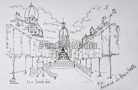 entrance to les invalides paris france