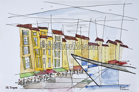 cubist waterfront abstract saint tropez french