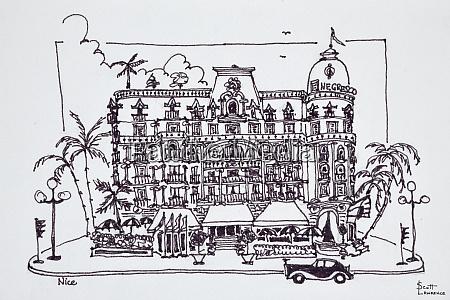 the hotel negresco located on the