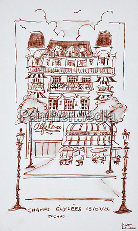 restaurant along the champs elysees paris