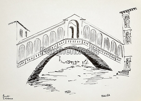 ponte di rialto in venice italy