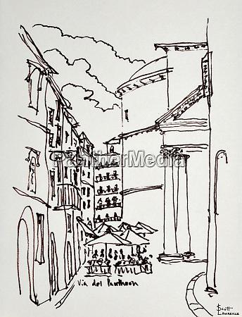 via del pantheon is the street