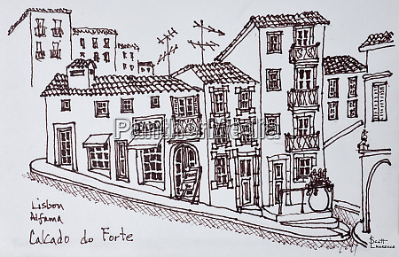 calcada do forte alfama lisbon portugal